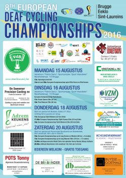 Affiche 8th European Deaf Championships Cycling 2016