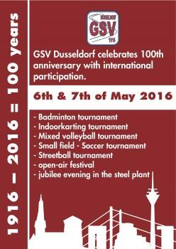 100 Year Tournament GSV Duesseldorf 1916