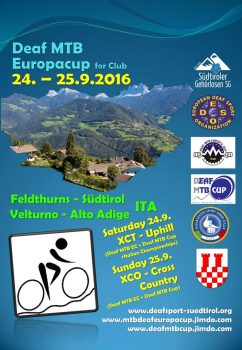 Poster 3rd Deaf MTB Europacup 2016 Italy