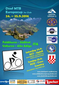 Poster Deaf MTB Europacup for Club 24.-25.9.2016