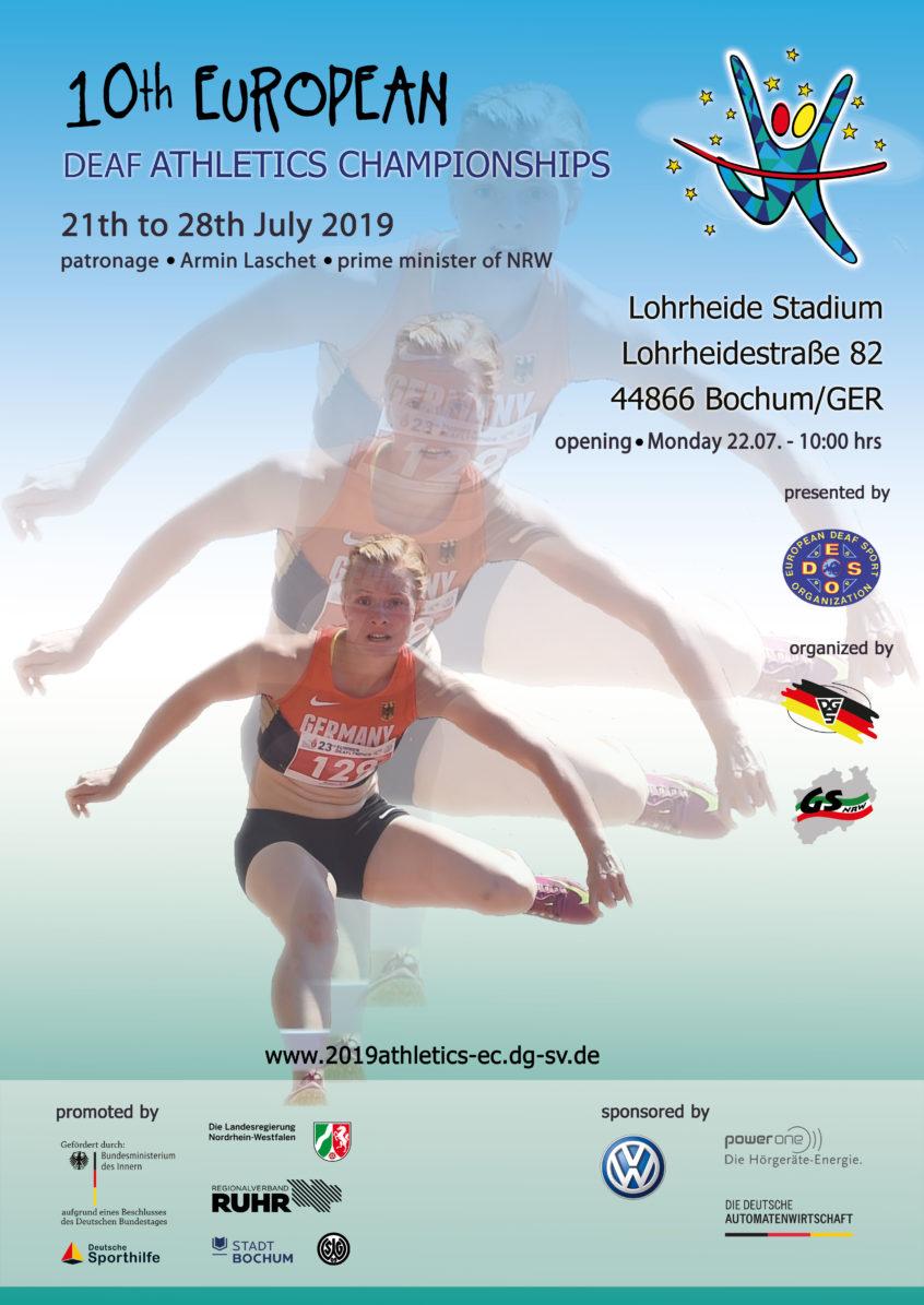 European Deaf Sports Organisation | 10th EC Athletics 2019